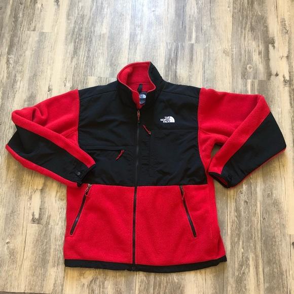 8d1fda0b1 The North Face Men's Denali Jacket Red and Black